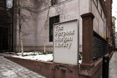 Pierpont Morgan Library Museum NYC stock afbeelding
