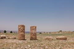 Pierre antique dans le temple de la Chypre Image stock