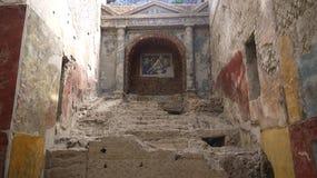 Pierre antique de relique de civilisation dans le forum Romanum Rome Italie Photographie stock libre de droits