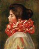 Pierre-auguste Renoir, French, 1841-1919 -- Girl In A Red Ruff royalty free stock photo
