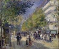 Pierre -Pierre-auguste Renoir, het Frans, 1841-1919 -- Het Grands Boulevards stock illustratie