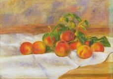 Pierre -Pierre-auguste Renoir, het Frans, 1841-1919 -- Perziken les Pches stock illustratie