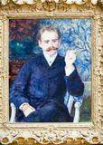 Pierre-Auguste Renoir, Portrait of Albert Cahen d`Anvers. Oil on canvas from French artist Pierre-Auguste Renoir,  1841 - 1919 - on view in Getty Center, Los Stock Photography