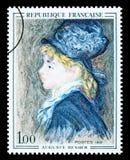 Pierre-Auguste Renoir Postage Stamp Royalty Free Stock Photos