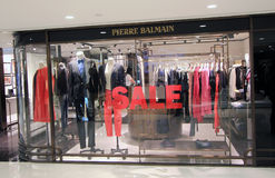 Pierre Balmain shop in Hong Kong Stock Image