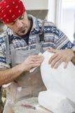 Pierre blanche polonaise de sculpteur Photos libres de droits