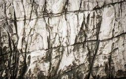 Pierre blanche solide en caverne Images libres de droits