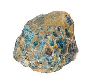 Pierre bleue d'apatite Photos stock