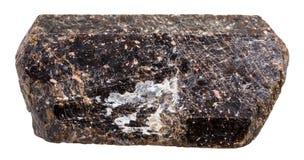 Pierre brune cristalline de minerai de dravite de Tourmaline Photographie stock libre de droits