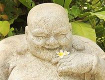 Pierre chinoise de statue d'un dieu photographie stock