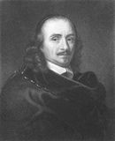 Pierre Corneille. (1606-1684) on engraving from the 1800s. Founder of French tragedy and one of the three great 17th century French dramatists, along with Royalty Free Stock Image