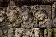 Pierre découpée chez Borobudur Image libre de droits