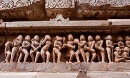 Pierre découpée dans Khajuraho photos stock