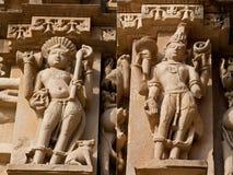 Pierre découpée dans Khajuraho images libres de droits