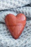 Pierre d'amour Forme de coeur Images libres de droits