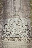 Pierre d'Apsaras découpant dans Angkor Wat Photographie stock