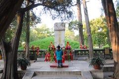 Pierre d'enterrement de Confucius image libre de droits