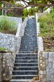 Pierre d'escaliers Photos stock