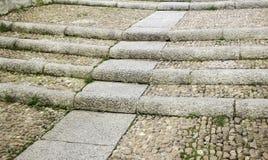 Pierre d'escaliers de ciment Photo libre de droits