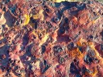 Pierre de couleur aux déserts Image libre de droits