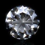 Pierre de diamant sur l'espace noir Photographie stock libre de droits