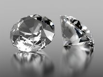 pierre de 2 diamants Images stock