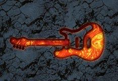 Pierre de lave de guitare Photo libre de droits