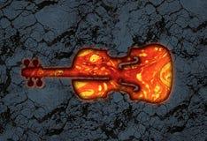 Pierre de lave de violon Photos libres de droits