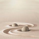 Pierre de méditation de jardin de zen photo libre de droits