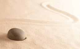 Pierre de méditation de zen de Mindfulness photo stock