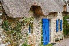 pierre de maison de brittany traditionnelle Photos stock