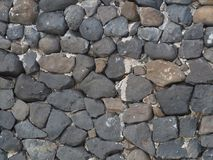 pierre de mur sur la plage sur le sable Image stock
