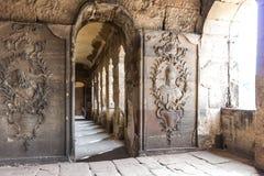 Pierre de nigra romain antique de Porta de porte, Trier Images libres de droits