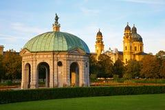 pierre de pavillon de l'Allemagne Munich Images stock