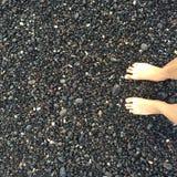 Pierre de pieds de plage Photographie stock libre de droits