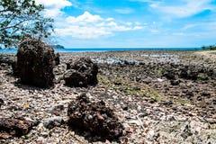 Pierre de roche sur la plage dans le thaialnd Photographie stock libre de droits