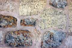 Pierre du fond blanc et brun de pavés de couleur Images libres de droits