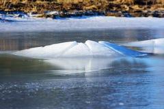 Pierre en glace Photographie stock