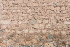 Pierre et mur de briques images stock