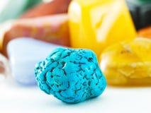 Pierre gemme bleue de turquoise photos stock