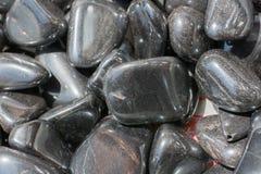 pierre gemme dégringolée grise métallique d'hématite en tant que roche minérale images libres de droits