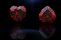 Pierre gemme de forme de coeur Collections de gemmes de bijou Images stock