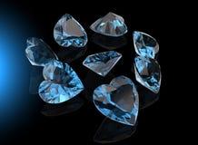 Pierre gemme de forme de coeur Collections de gemmes de bijou Image libre de droits