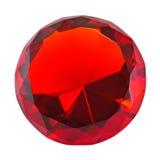 Pierre gemme ronde rouge Images libres de droits