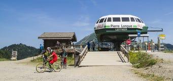 Pierre-Longue chair-lift, in The Portes du Soleil region Royalty Free Stock Photos