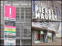 Pierre Mauroy football stadium collage Stock Photo