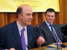 Pierre Moscovici und Mihai Razvan Ungureanu Lizenzfreies Stockbild