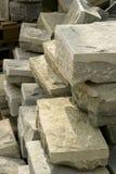 Pierre par la maçonnerie en pierre photographie stock