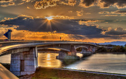 Pierre Pflimlin motorway bridge Royalty Free Stock Image