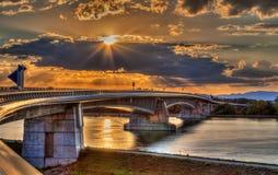 Pierre Pflimlin motorway bridge Royalty Free Stock Image